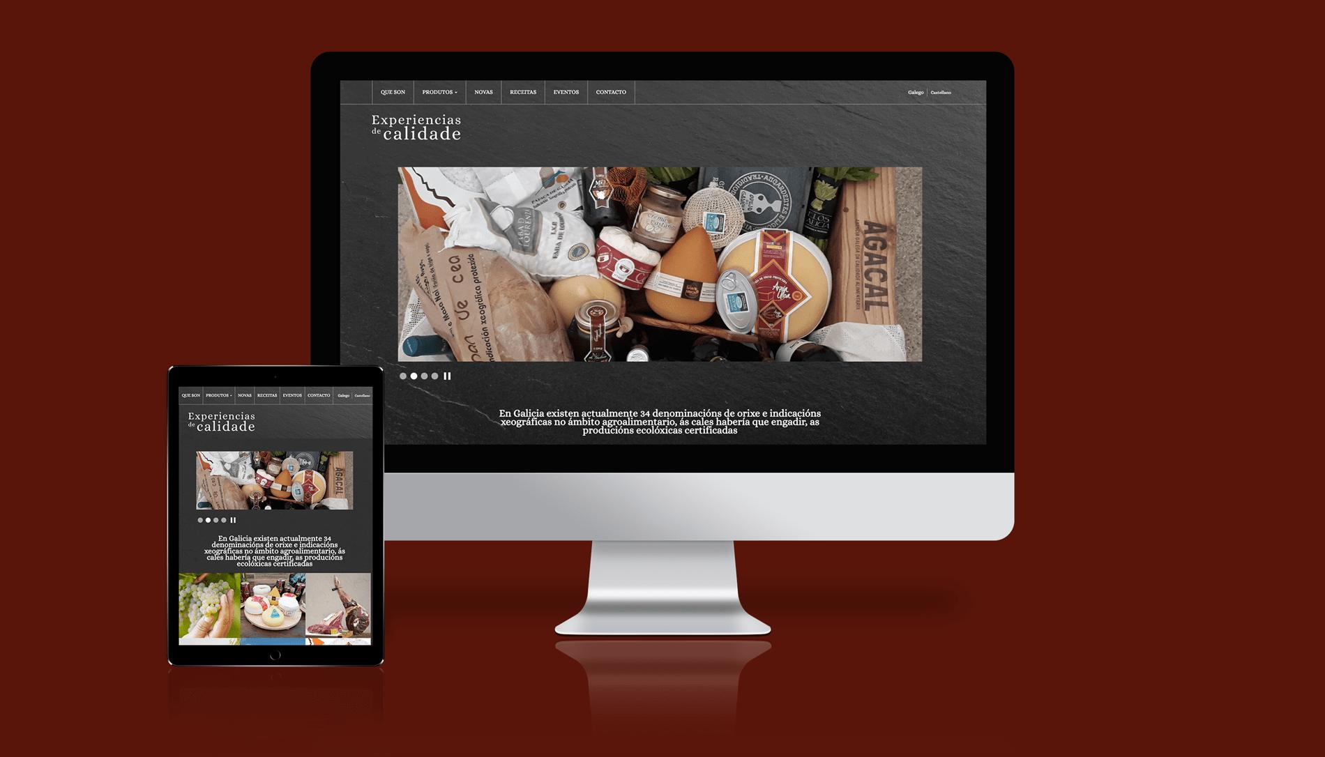 Experiencias de Calidade. Un desenvolvemento web para promocionar o sabor de Galicia